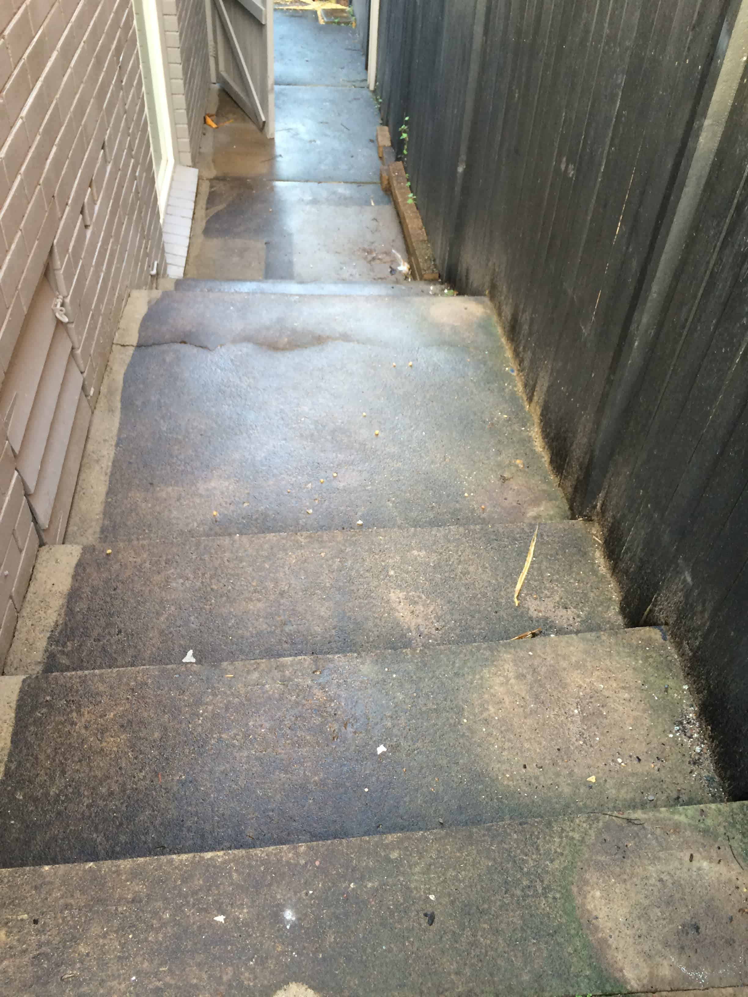 stairs-before-high-pressured-cleaning-at-baulkham-hills